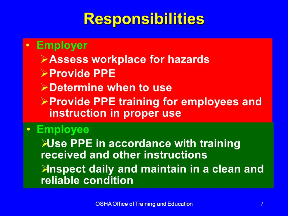 OSHA Office of Training and Education