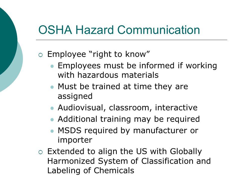 OSHA Hazard Communication