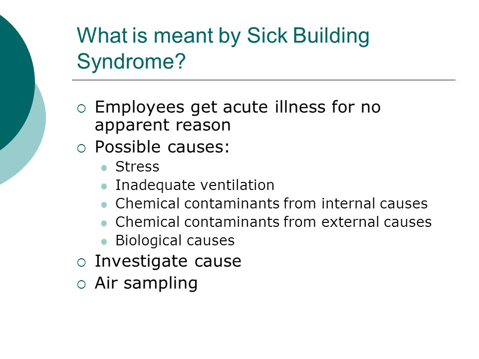What is meant by Sick Building Syndrome