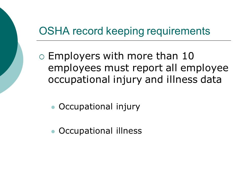 OSHA record keeping requirements