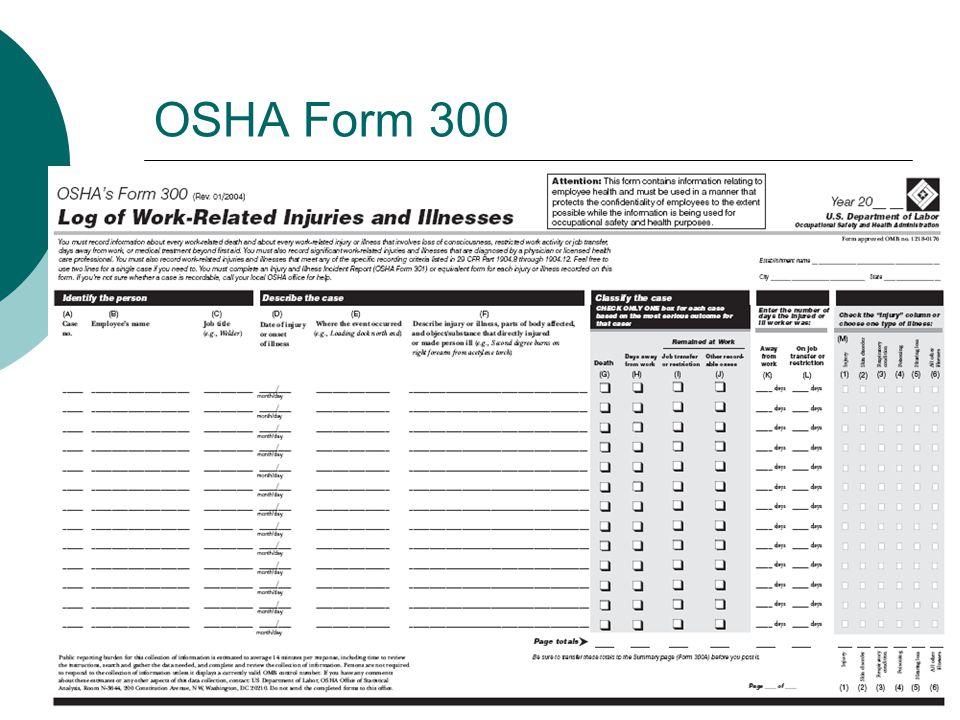 OSHA Form 300