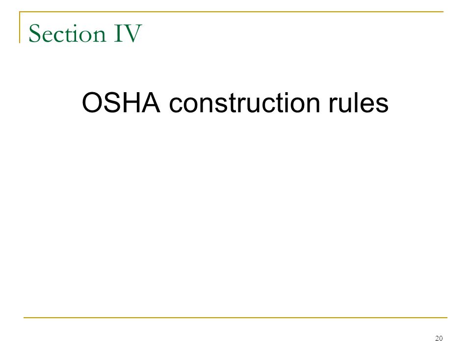 OSHA construction rules