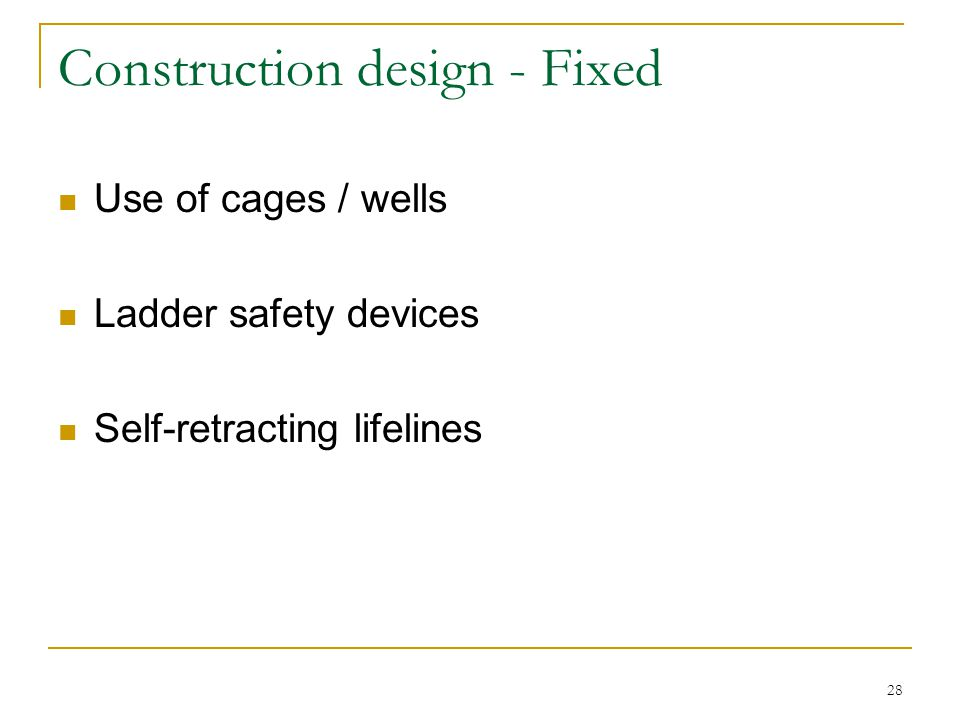 Construction design - Fixed