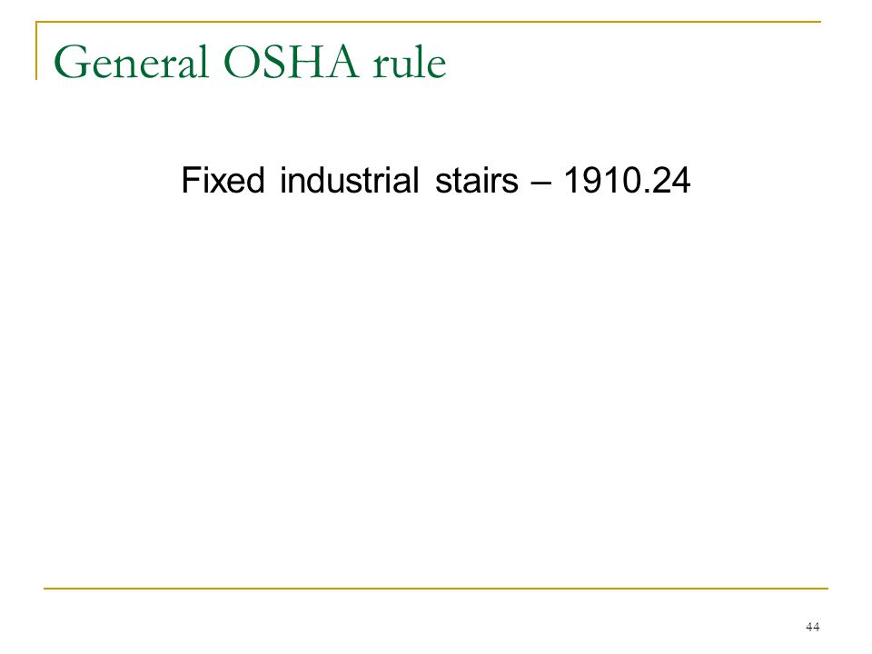 Fixed industrial stairs – 1910.24