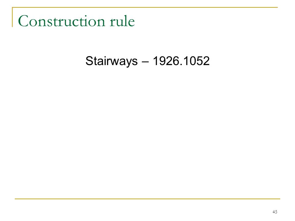 Construction rule Stairways – 1926.1052