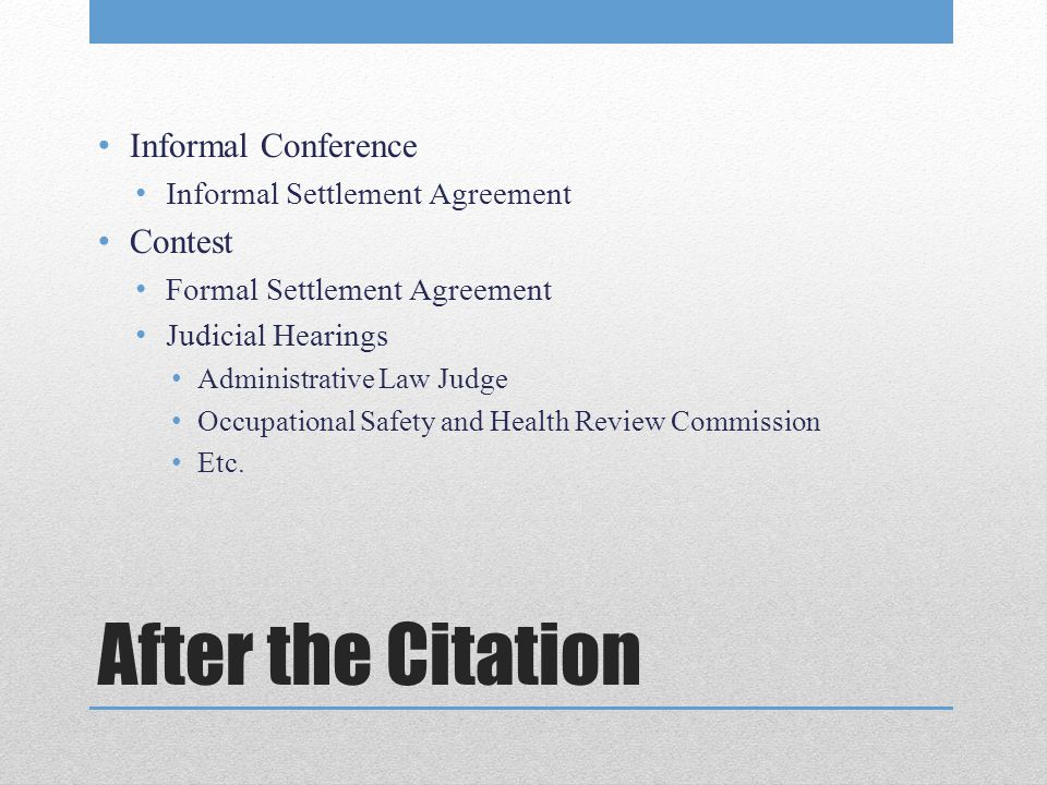 After the Citation Informal Conference Contest