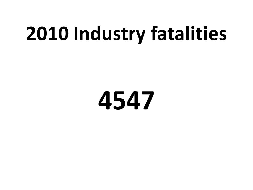 2010 Industry fatalities 4547