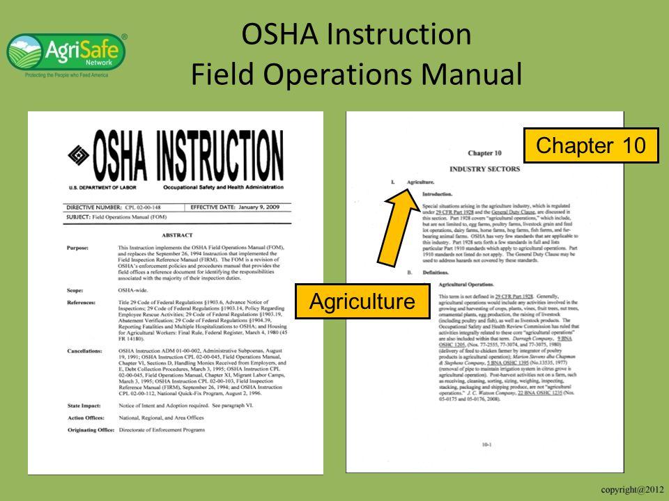 OSHA Instruction Field Operations Manual