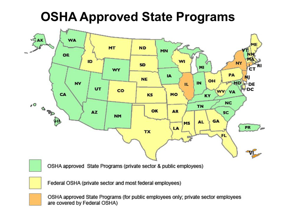 OSHA Approved State Programs