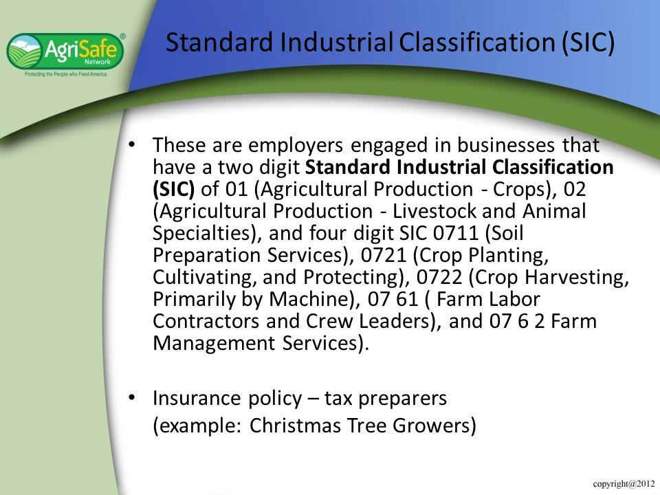 Standard Industrial Classification (SIC)