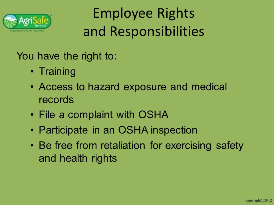 the rights and responsibilities of employers