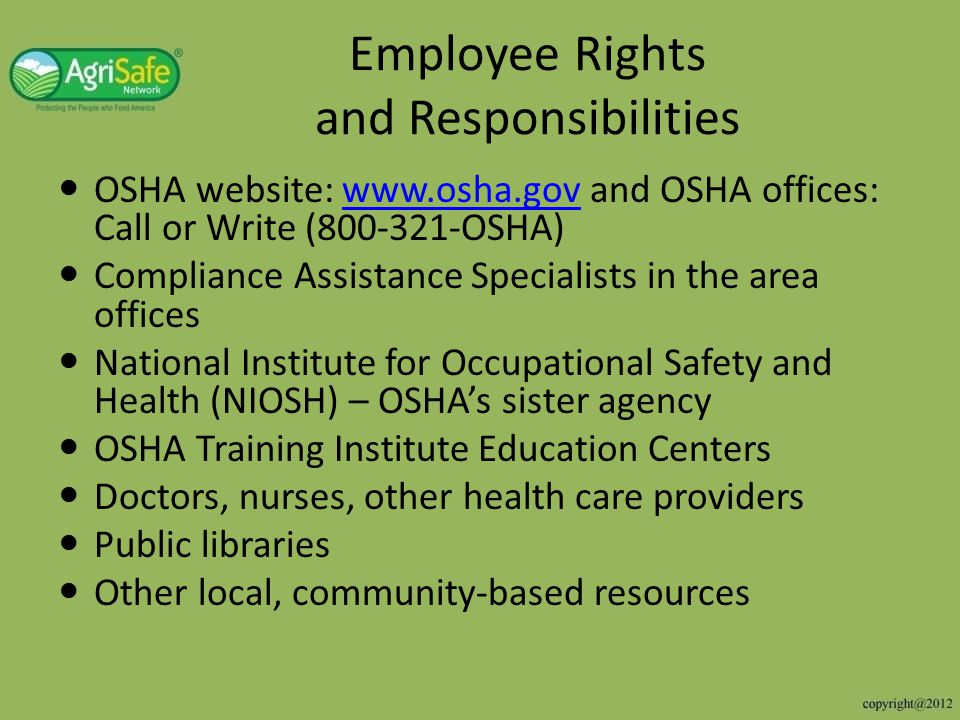 know the employment rights and responsibilities