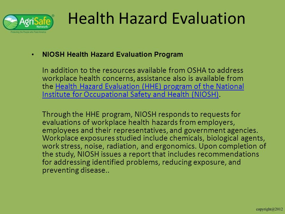 Health Hazard Evaluation