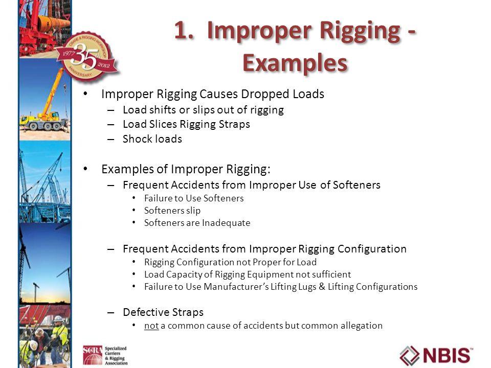 1. Improper Rigging - Examples