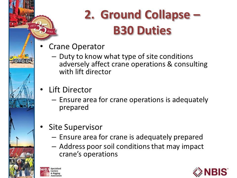 2. Ground Collapse – B30 Duties