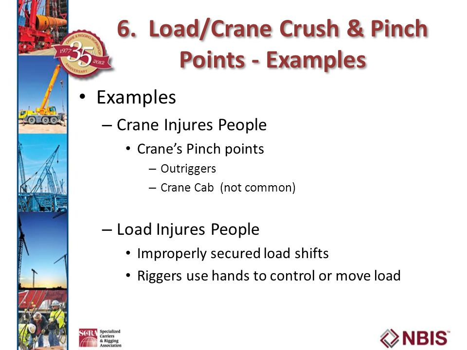 6. Load/Crane Crush & Pinch Points - Examples