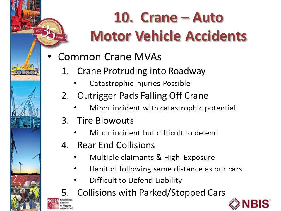 10. Crane – Auto Motor Vehicle Accidents