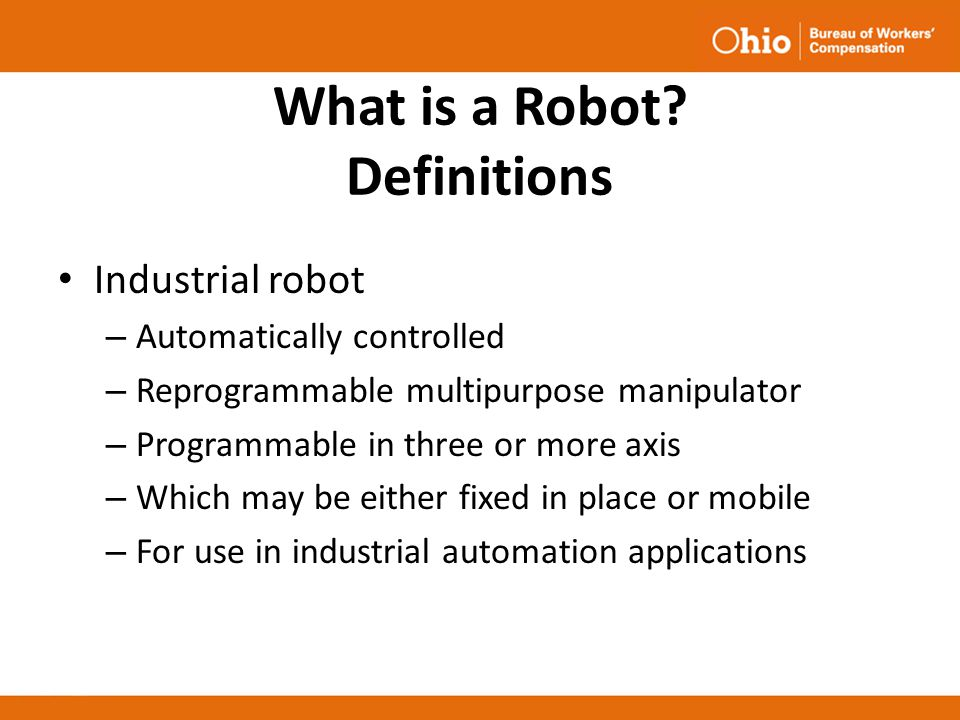 What is a Robot Definitions