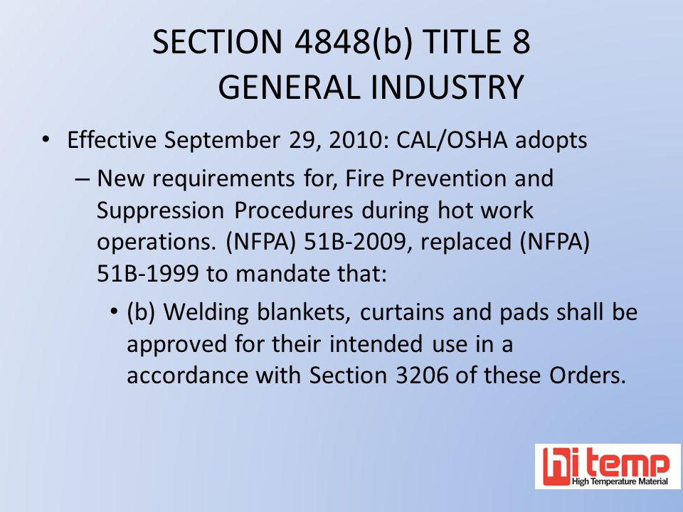 SECTION 4848(b) TITLE 8 GENERAL INDUSTRY