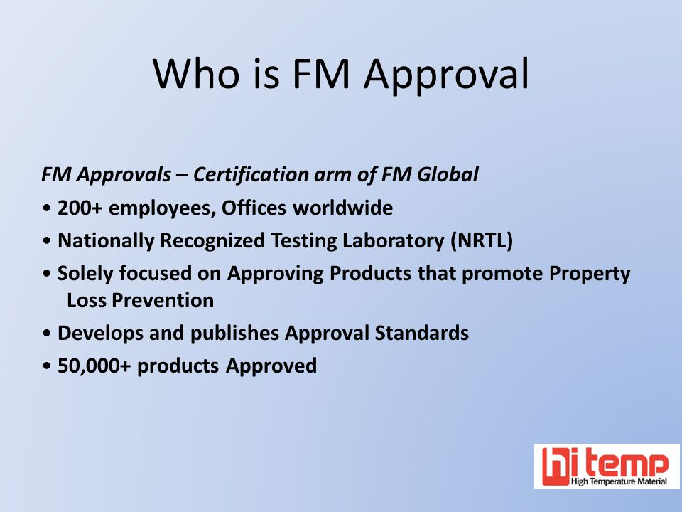 Who is FM Approval