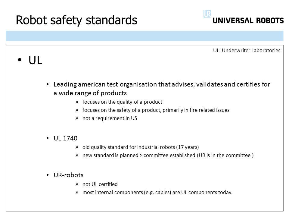 Robot safety standards
