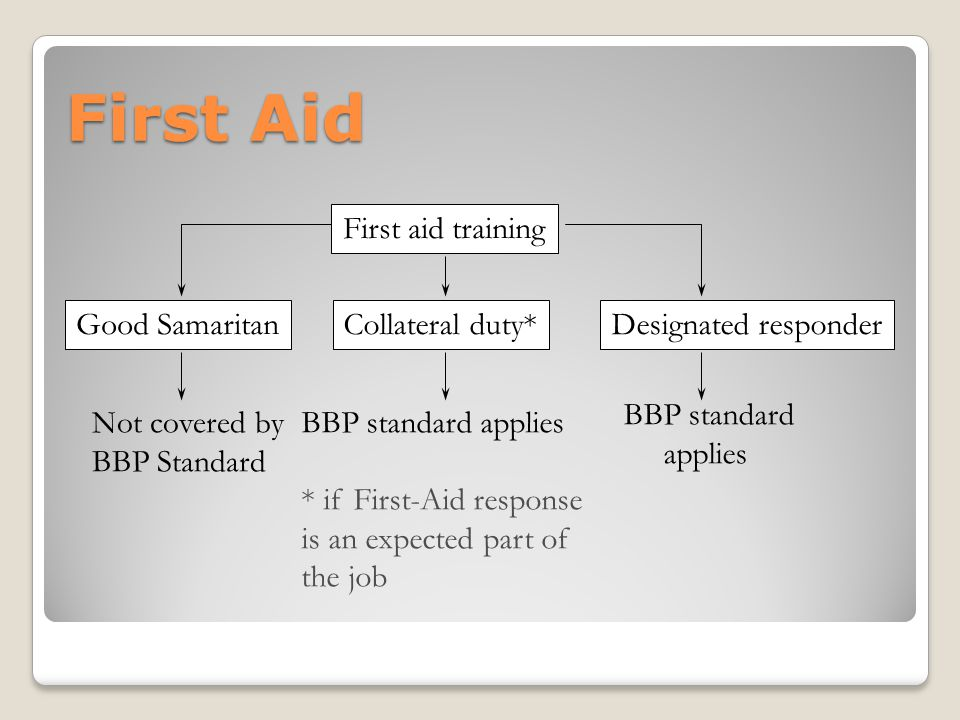 First Aid First aid training Good Samaritan Collateral duty*