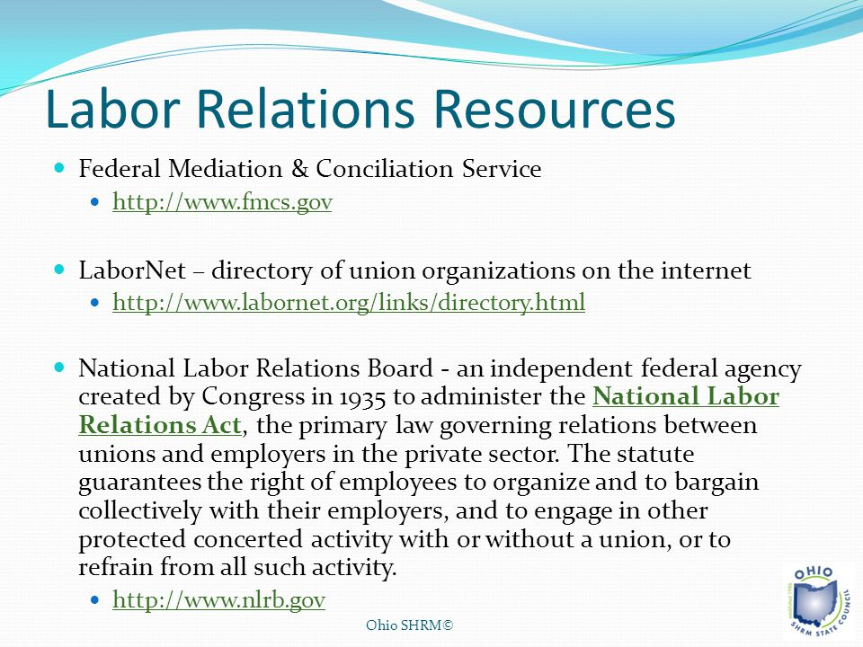 Labor Relations Resources