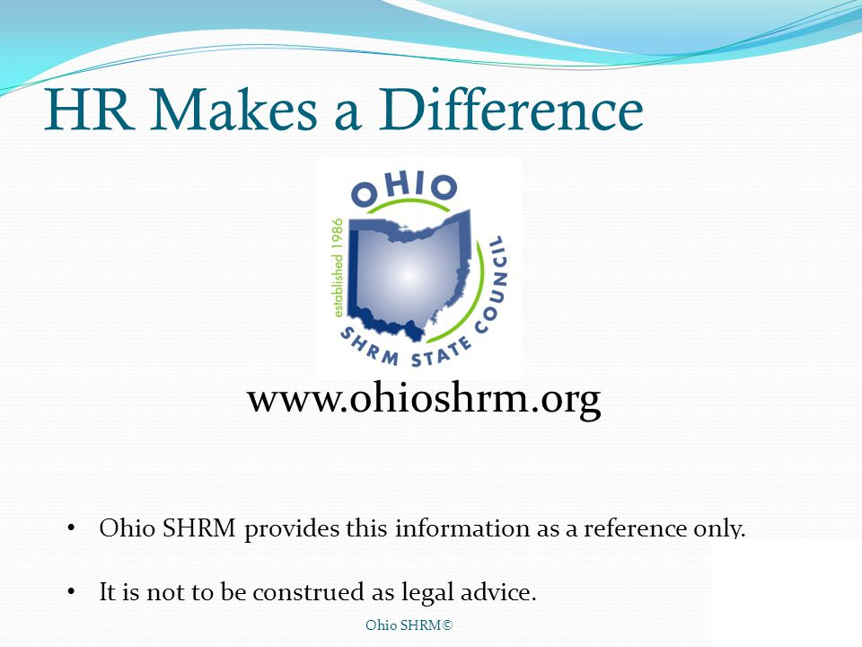 HR Makes a Difference www.ohioshrm.org