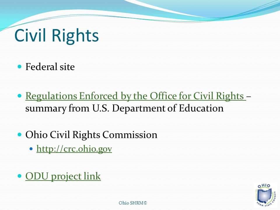 Civil Rights Federal site