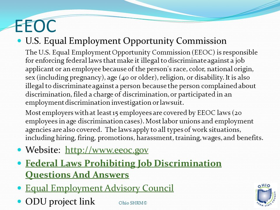 EEOC U.S. Equal Employment Opportunity Commission