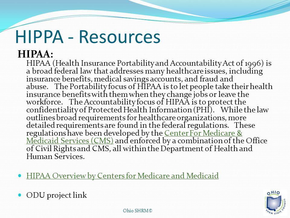 HIPPA - Resources