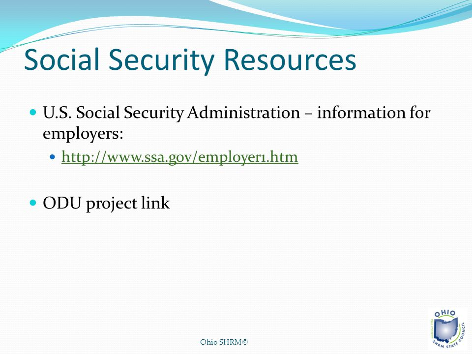 Social Security Resources
