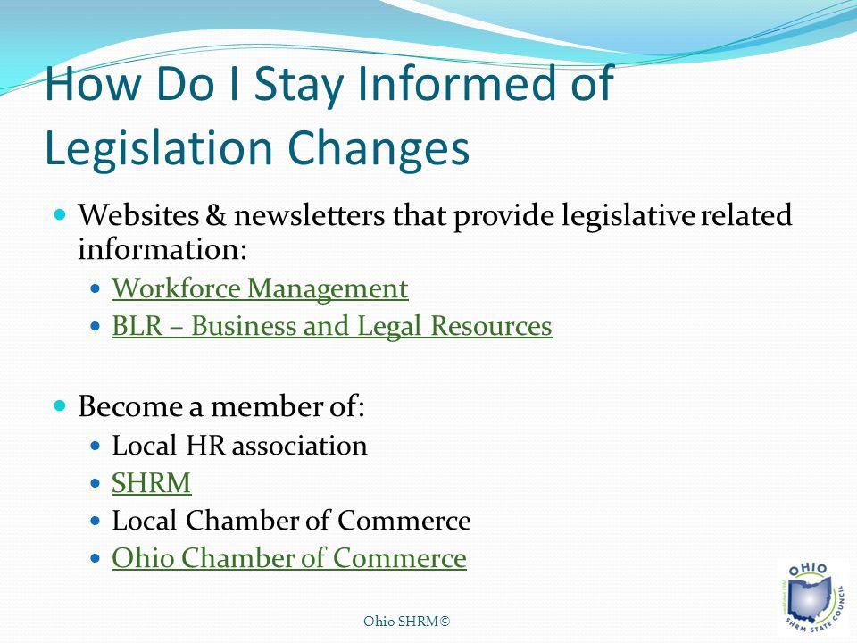 How Do I Stay Informed of Legislation Changes