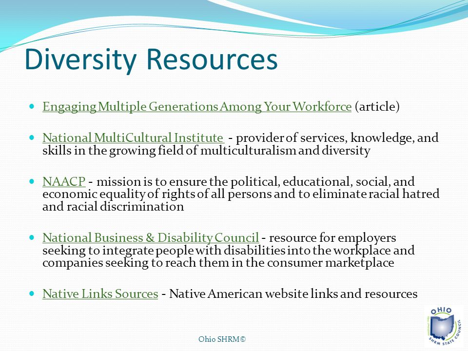 Diversity Resources Engaging Multiple Generations Among Your Workforce (article)