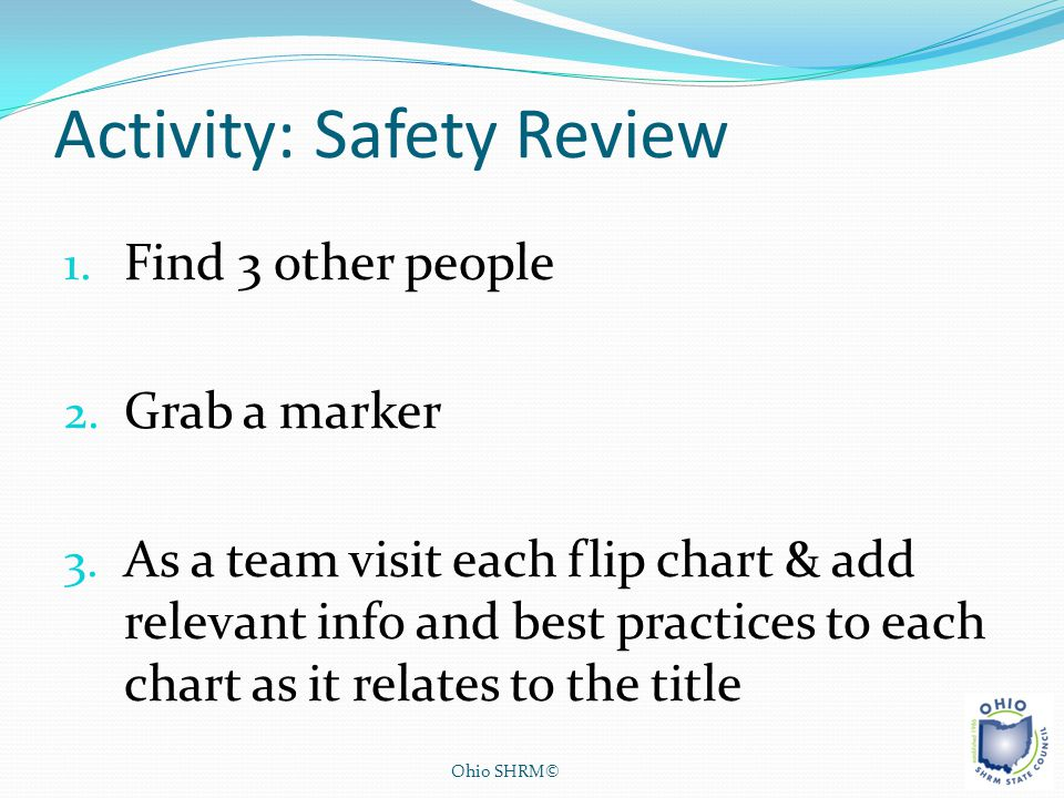 Activity: Safety Review