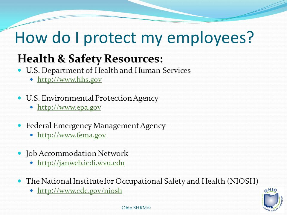 How do I protect my employees