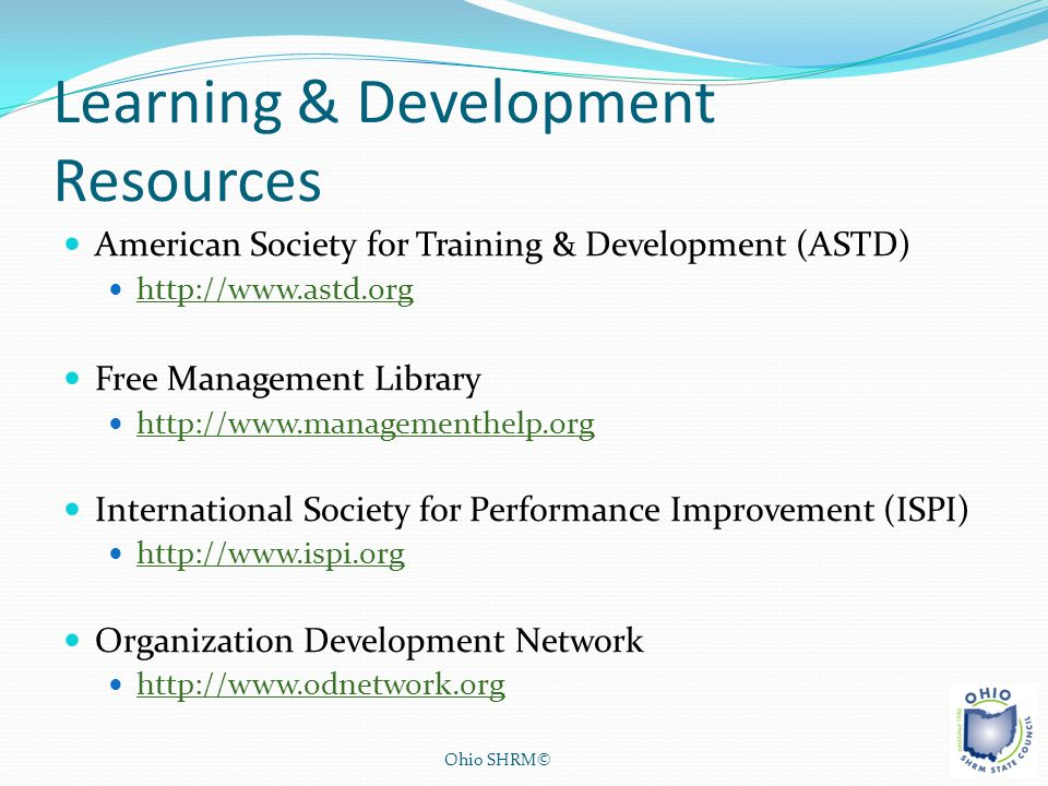Learning & Development Resources