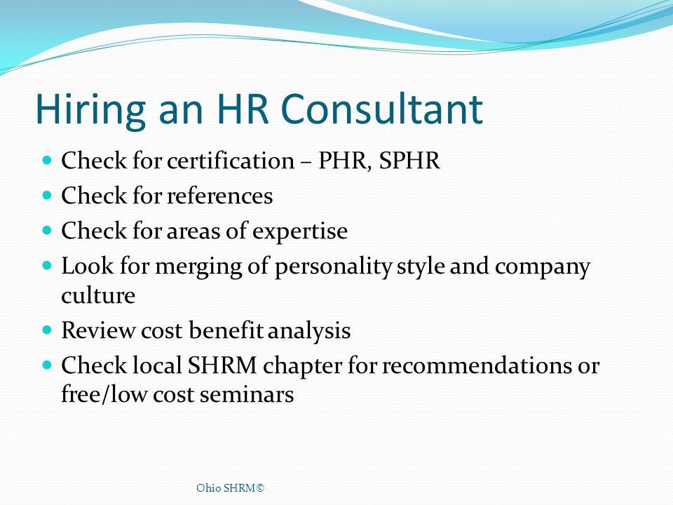 Hiring an HR Consultant