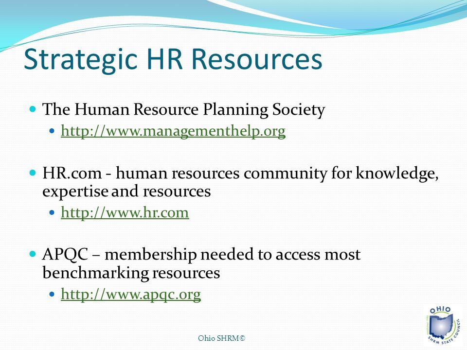 Strategic HR Resources