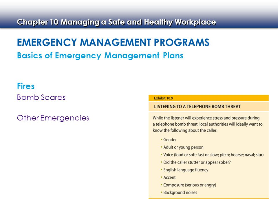 Emergency Management Programs