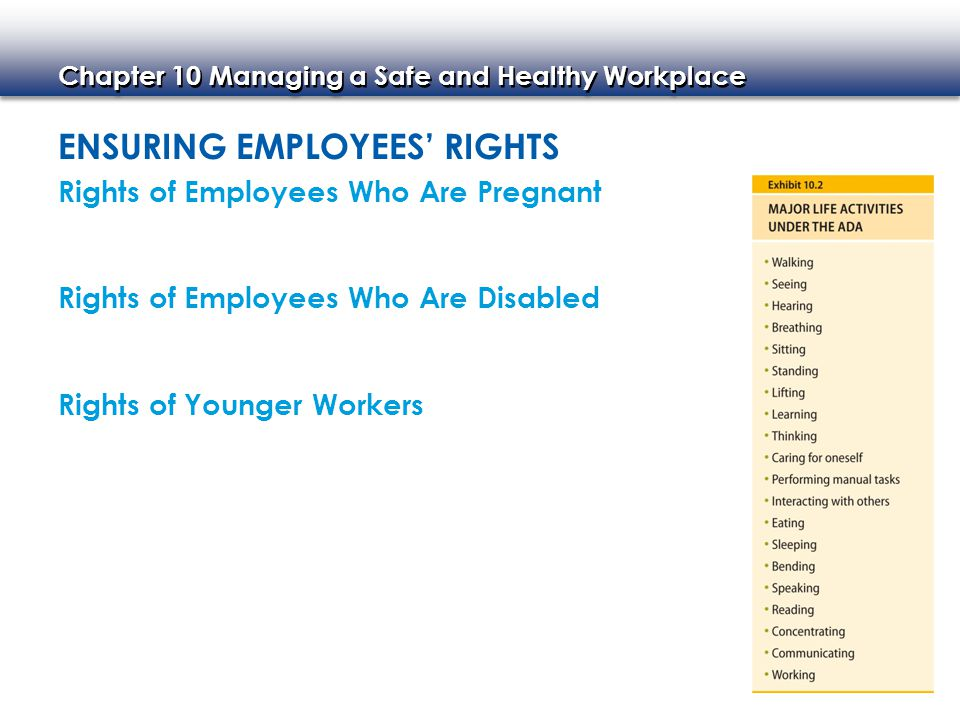 Ensuring Employees' Rights