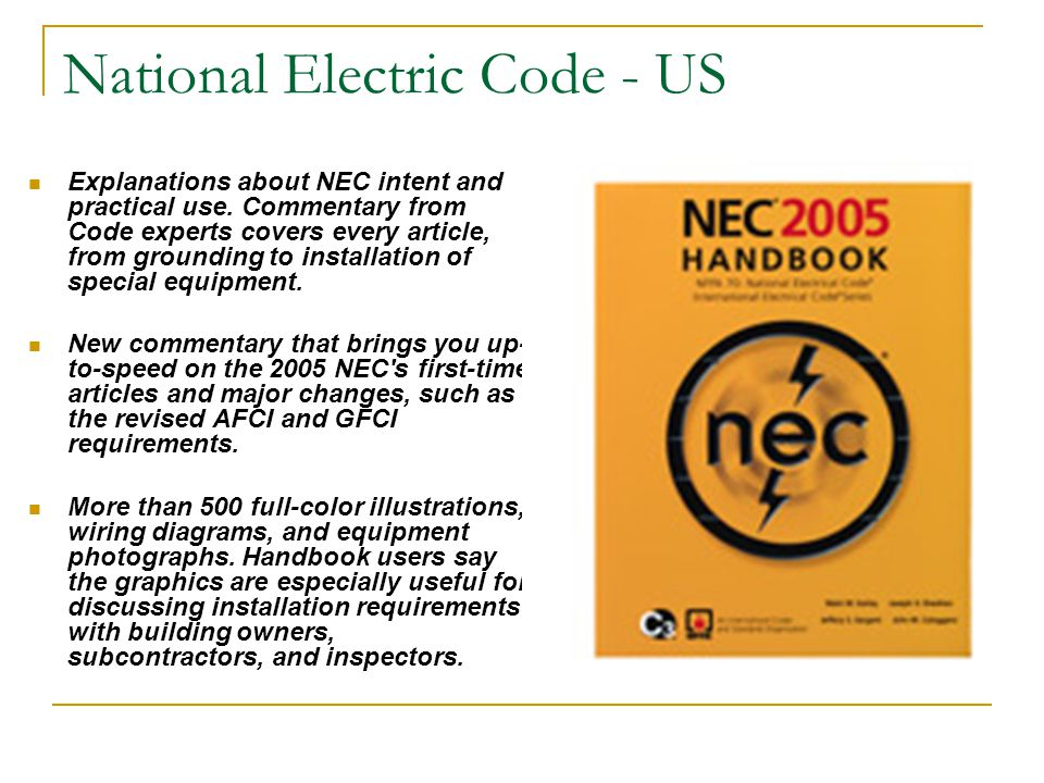 National Electric Code - US