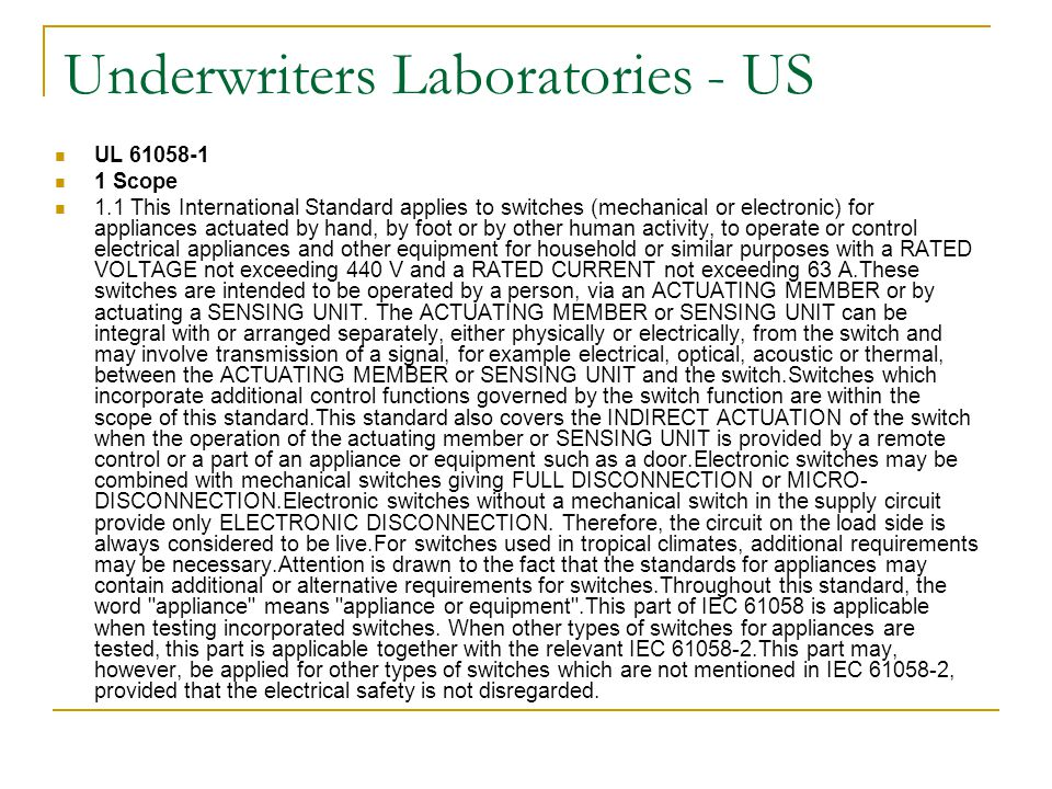 Underwriters Laboratories - US