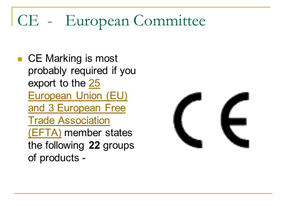 CE - European Committee