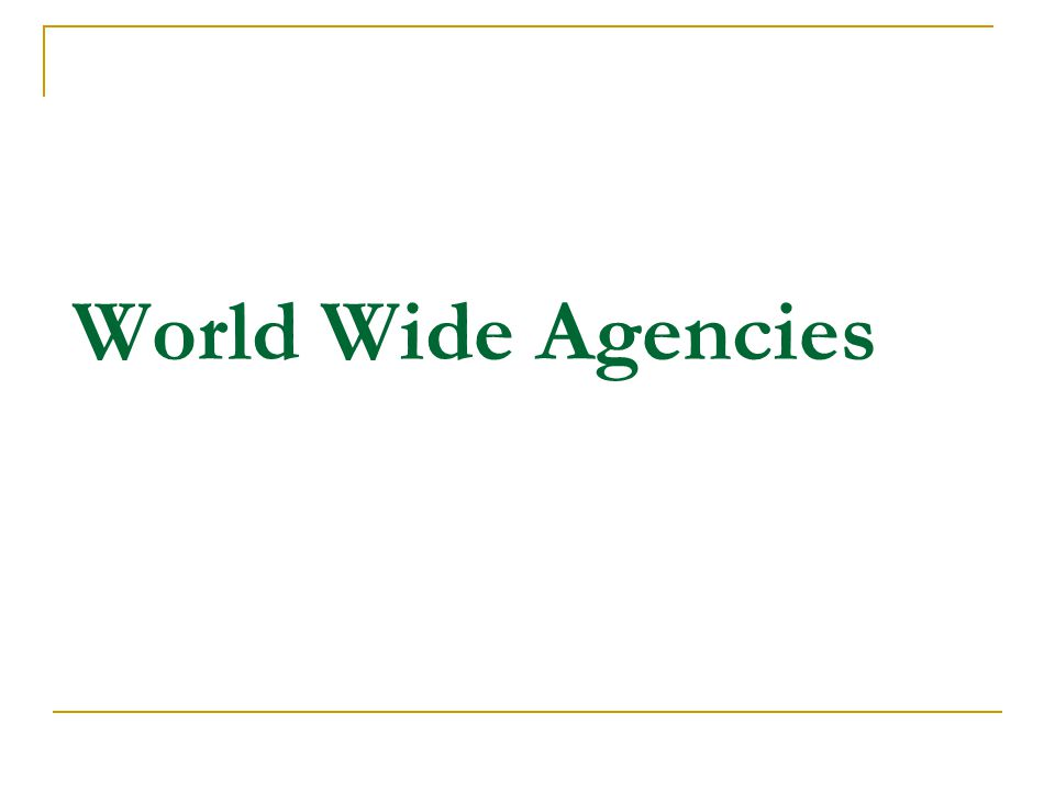 World Wide Agencies