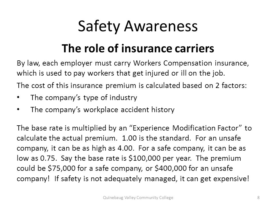 The role of insurance carriers