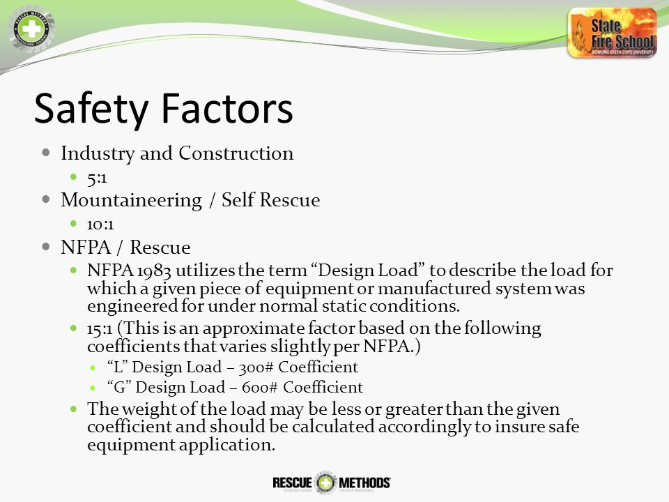 Safety Factors Industry and Construction Mountaineering / Self Rescue