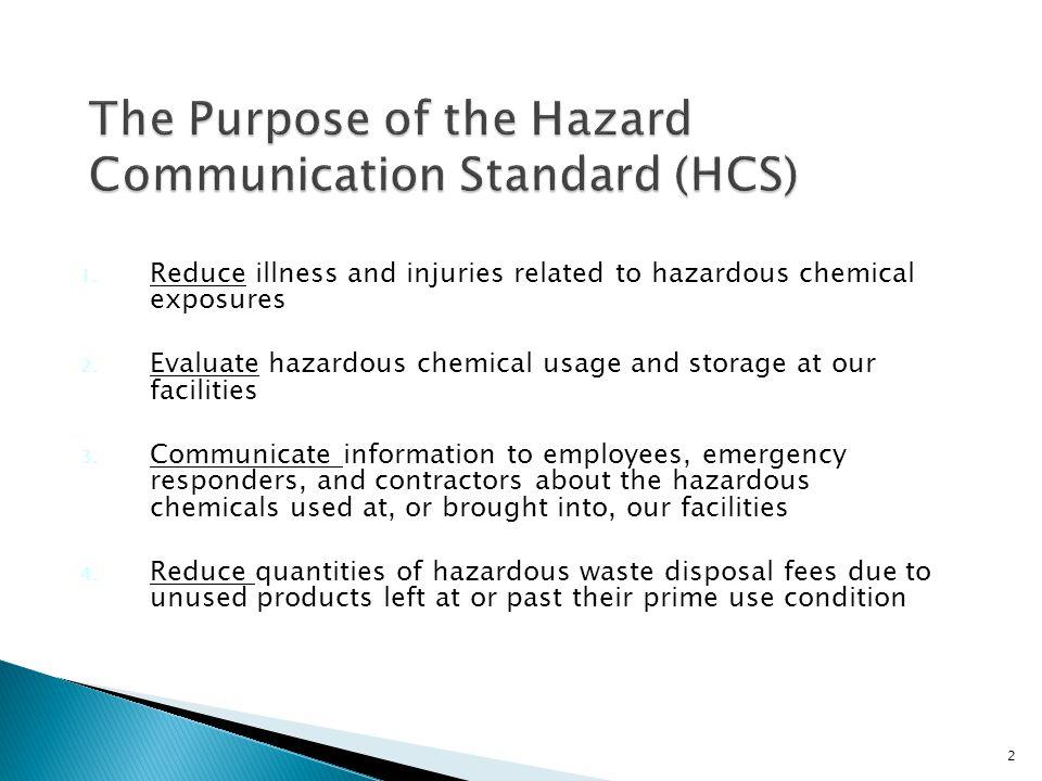 The Purpose of the Hazard Communication Standard (HCS)