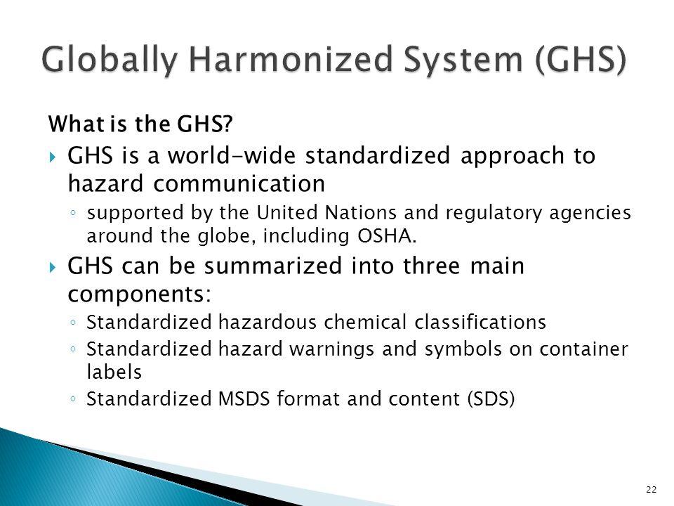 Globally Harmonized System (GHS)