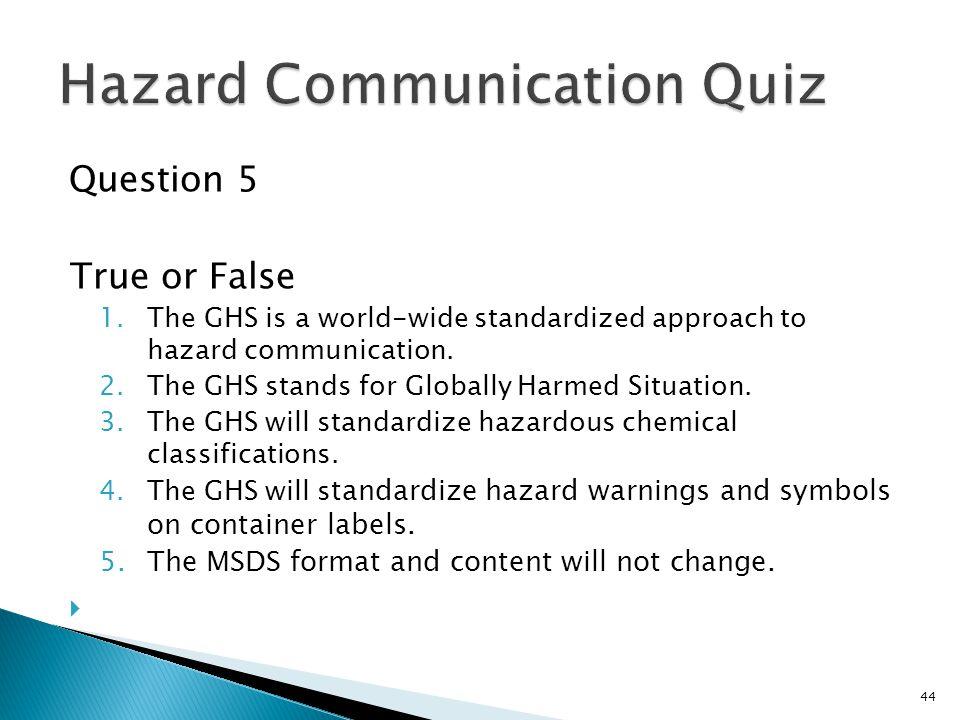 Hazard Communication Quiz
